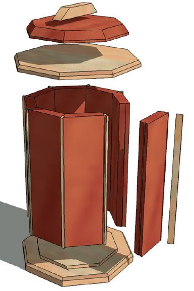 3D design for a canister project made in Google SketchUp