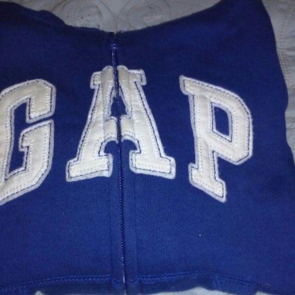Neutral Gap hoodie Royal blue and white zip up hoodie in great condition. GAP Shirts & Tops Sweatshirts & Hoodies
