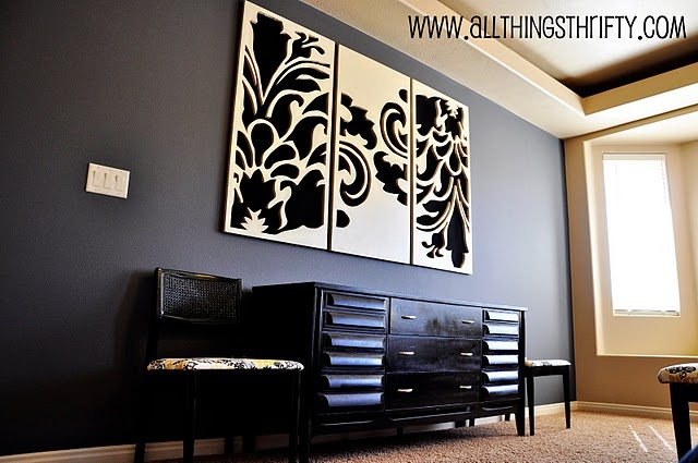 Wall Art. - I did mine in reverse colors. My boards are dark blue and I used an off-white color for the print