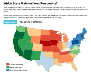 Where should you live based on your personality?  Tennessee...not! It has no water!!!  I have to live where I am close to the ocean or lakes!