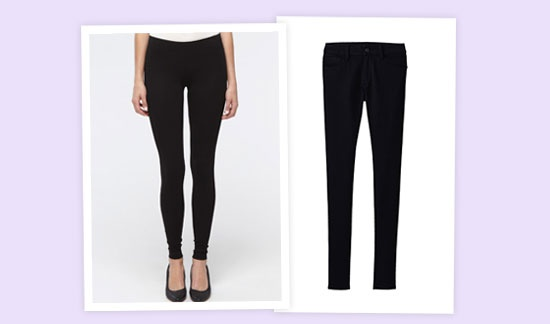 Black Uniqlo leggings.