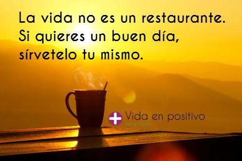 Sírvete un buen día. #FelizMiércoles