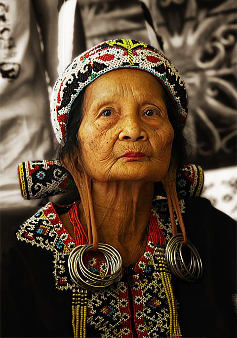 A Dayak woman in Borneo
