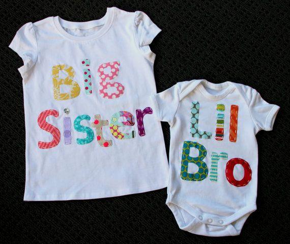 Big sister little sis tops/onsies.Matching by BellesBowsTas29