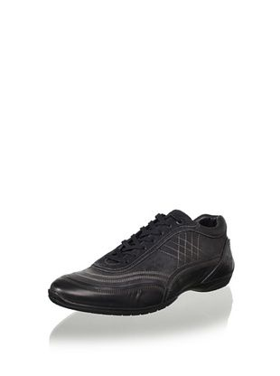 Bacco Bucci Men's Vinci Lace to Toe Sport Shoe (Black)