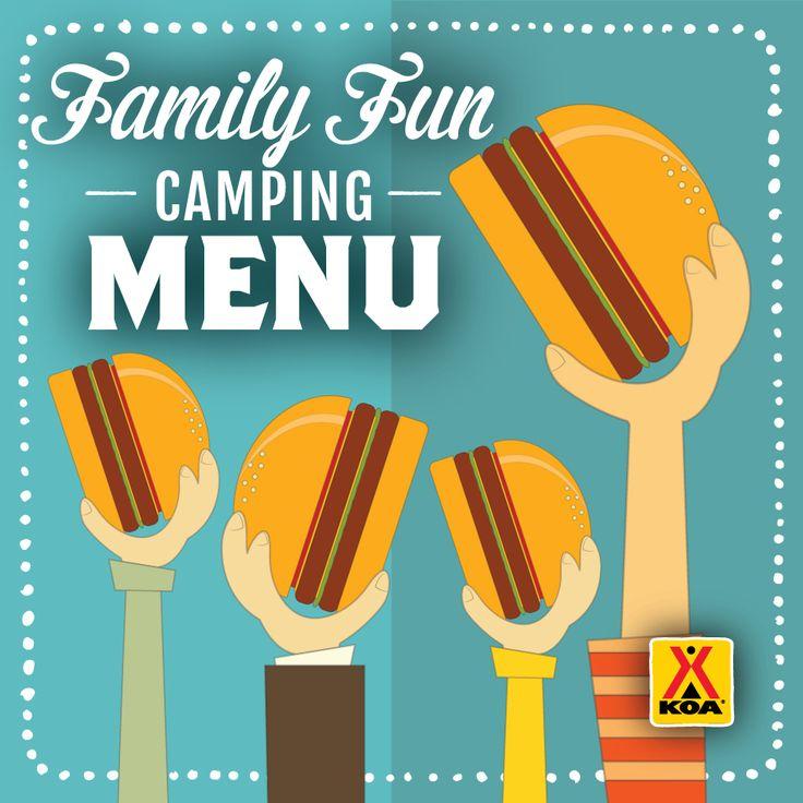 Family Fun Weekend Camping Menu #KOACamping