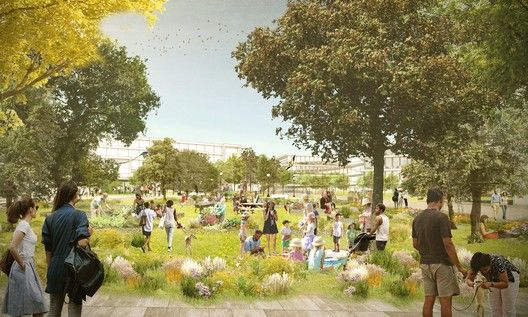 OMA New York to Design Mixed-Use Menlo Park Campus for Facebook,© OMA