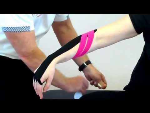 ▶ How to apply Kinesiology tape for Tennis Elbow / lateral epicondilitis - YouTube
