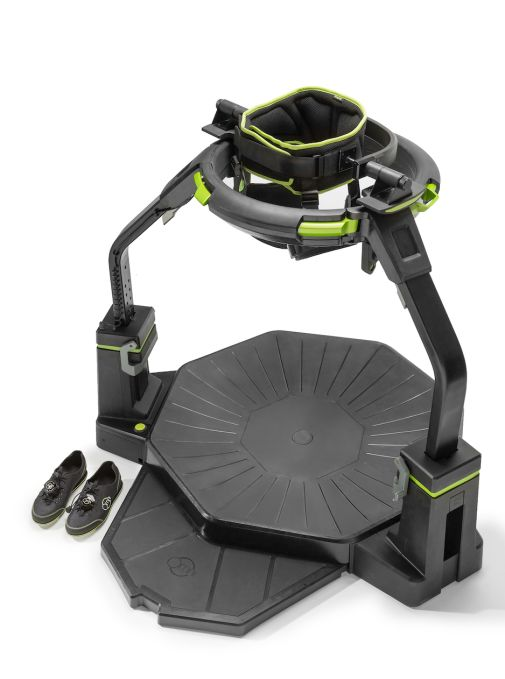 Run away from actuality with the Virtuix Omni
