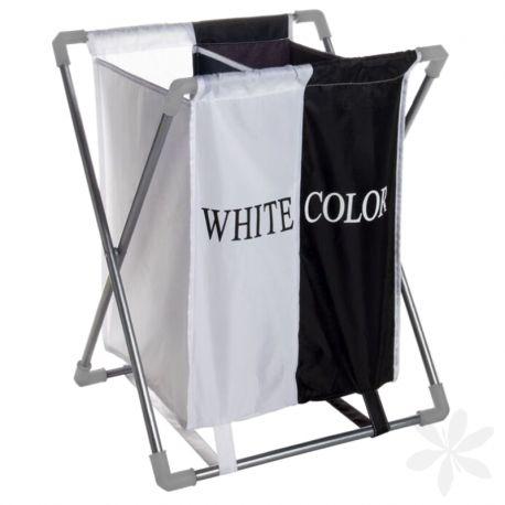 WHITE / COLOR. Mantén en orden tu baño con este práctico y comódo cesto plegable de ropa sucia. Dispone de dos compartimientos para separar la ropa blanca de la de color. ¡Organiza tu casa! #MenajeDelHogar #CestoDeRopa