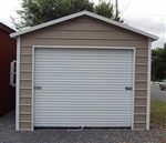 12x21 boxed eave style metal garage for sale