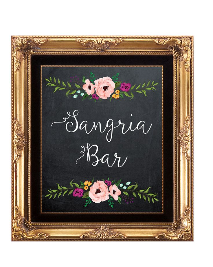 sangria bar sign, printable Sangria Bar sign, digital sangria bar sign, chalkboard sangria bar sign, 8 x 10, you print, instant download by OurFriendsEclectic on Etsy