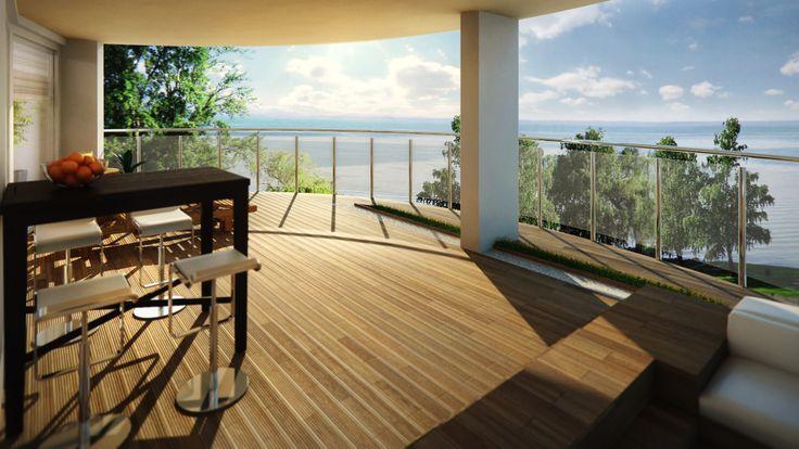 Terrace at Lake Balaton visualisation