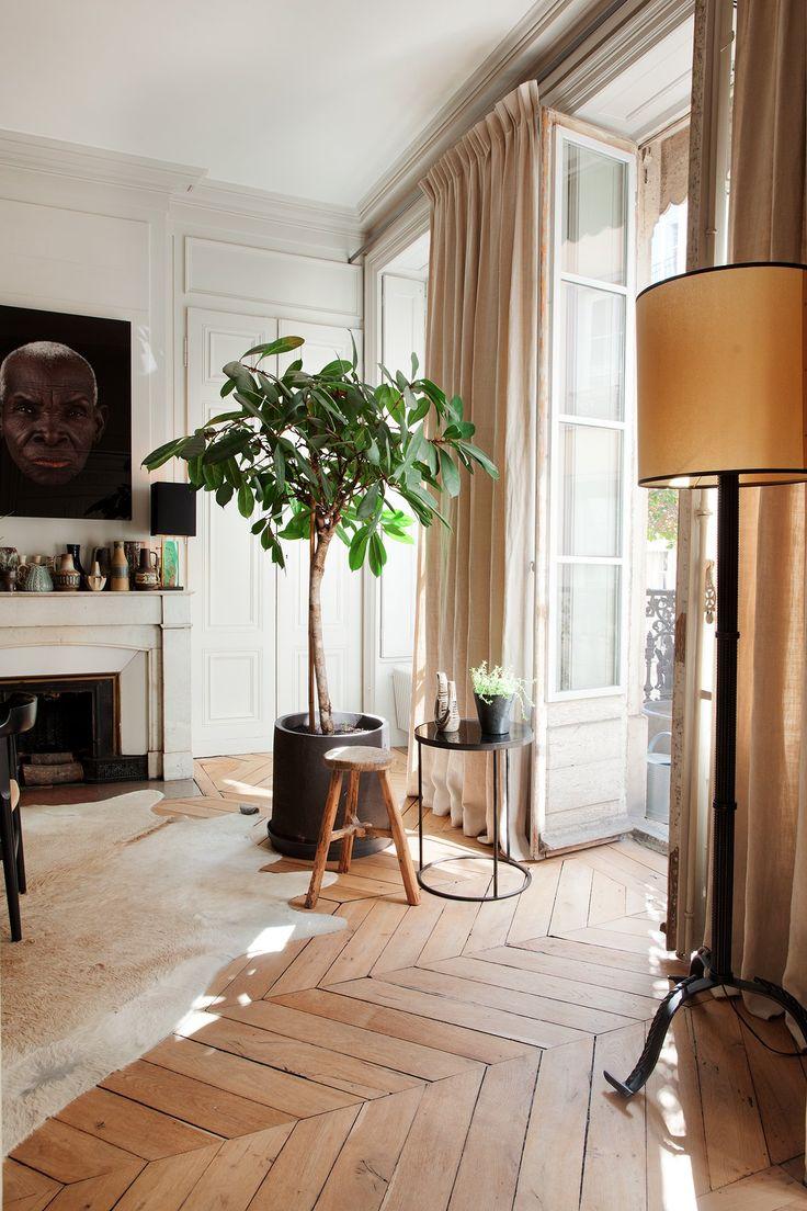 Salon Maison Hand Emmanuel Martin et Stéphane Garotin Lyon | Grande plante verte dans le salon #decocrush