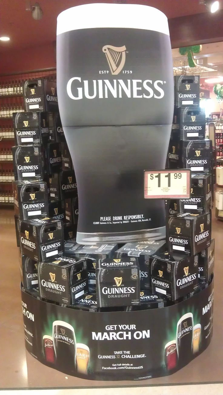 Guinness display at Kroger Beer/soda displays
