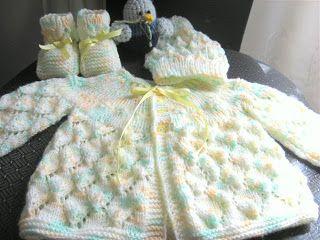 Entre Hilos y Puntadas: chambrita para bebe