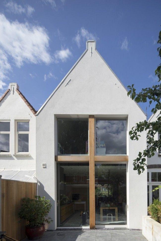 1000 idee n over moderne architectuur woning op pinterest moderne architectuur moderne - Huis verlenging oud huis ...
