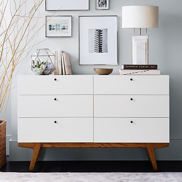 Best 25  Dresser top decor ideas on Pinterest Modern 6 Drawer Dresser  White Lacquer. Drawers For Bedroom. Home Design Ideas