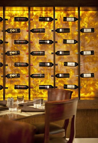 Niamtu wall idea (small chase wall next to elevator door) - match acrylic panels on bar display and/or lighting over bar