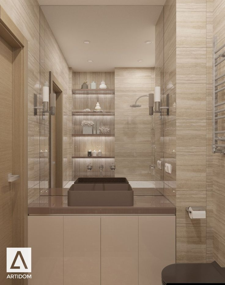 Bathroom travertine/ санузел