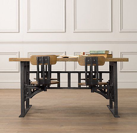 Kidu0027s vintage factory cafeteria table. Swivel-arm seats weathered wood top retro & 17 best Decorating u0026 Furnishings images on Pinterest | Bar tables ... islam-shia.org
