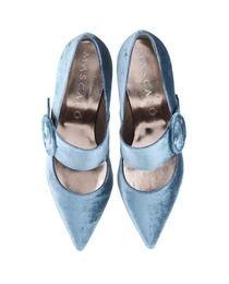 Zapatos de salón de mujer Jaime Mascaró en terciopelo azul