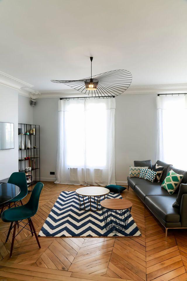 Appartement neuilly sur seine un 120 m2 familial réaménagé salon tendancedeco