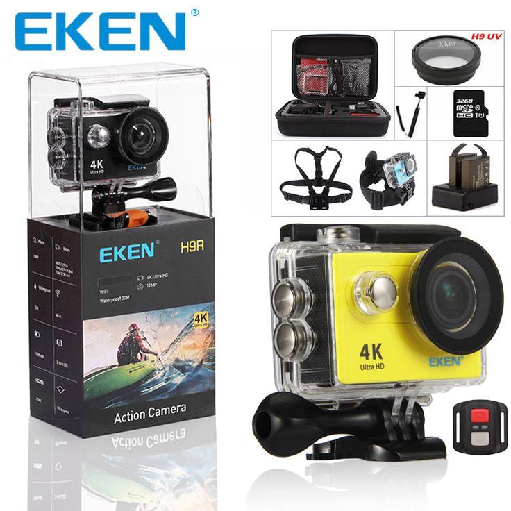 EKEN H9 h9r Ultra HD 4 К Камера 4k @ 25fps действие Камера 30 Водонепроницаемый 2 дюйм(ов) ЖК-дисплей Экран Wi-Fi пульт GoPro Стиль спортивные Камера