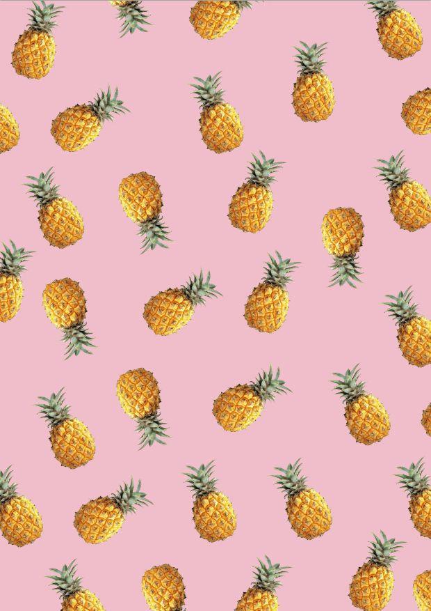 Piña rosa tropical verano fruta