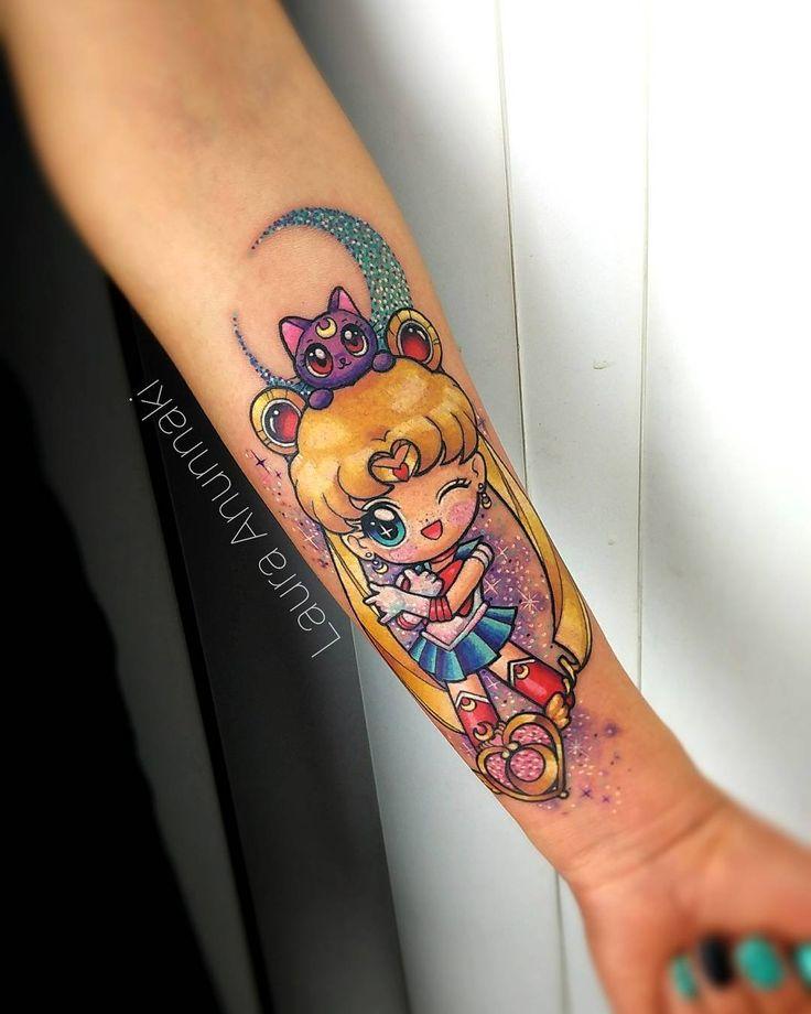 Cuteness overload with this magical #sailormoon #Chibi piece I want to do more chibi anime tattoos, please!tomorrow I have an announce for you guys! And I still continue reply mails for Paris and Madrid ✨ please share my work if you like It. Muero de ternura con esta sailor moon Chibi que tatue me encantaría poder hacer más tatuajes de anime Chibi en el futuro  por favor. Mañana tengo una noticia que contarles(si ya se, han sido muchas ) y por el momento sigo atendiendo ...