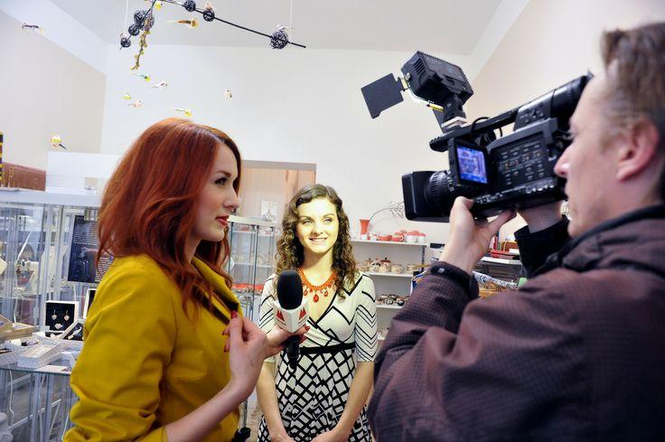 shooting fot TV, Lenka Vacvalova, Lilien Czech jewelry