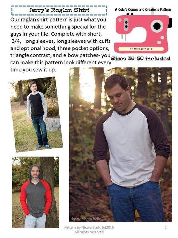 Jerry's Raglan Shirt Men Sizes 36-50 | Craftsy