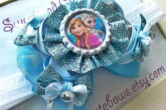 Anna Elsa or Anna & Elsa Hair Bow Attached to by SweetandCuteBows, $12.00