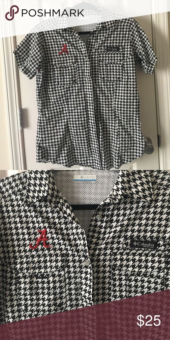 Columbia Alabama Women's PFG shirt houndstooth NEW without tags. Add to a bundle or make an offer! Columbia Tops Button Down Shirts