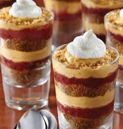 Mini Pumpkin Parfaits with Cranberry Caramel – Thanksgiving dessert recipe from ALDI.