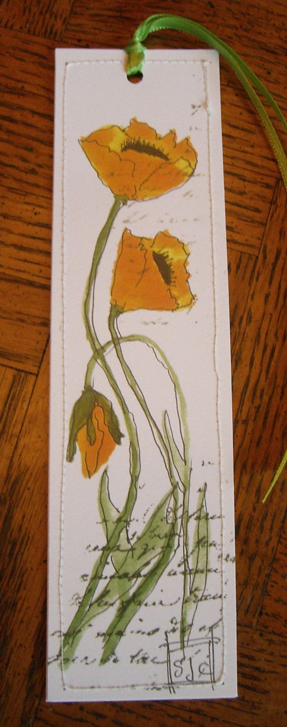 This is a listing for 1 bookmark. It is a archival print of my original watercolors. It is on heavy card stock double layered and stitched on all