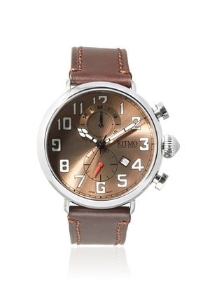 -39,800% OFF Ritmo Mundo Men's 705/2 SS RG Turismo Brown/Silver Stainless Steel Watch