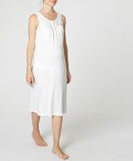 Button up Maternity nightdress with lace edging - OYSHO
