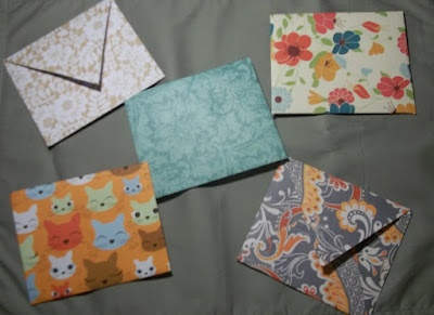 Scrapbook Paper Envelopes