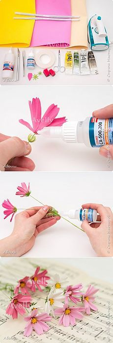 eva foam daisy flowers tutorial
