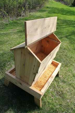 Good deer feeder, but not so good for rain or winter weather...