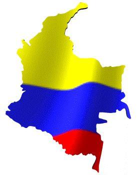 Colombia - Mapa y bandera