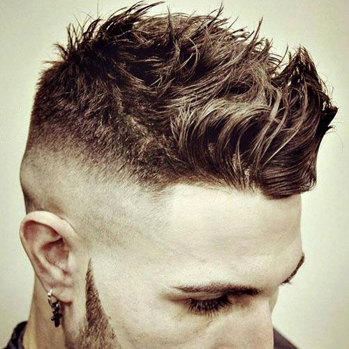 High Skin Fade with Messy Brush Up Cut
