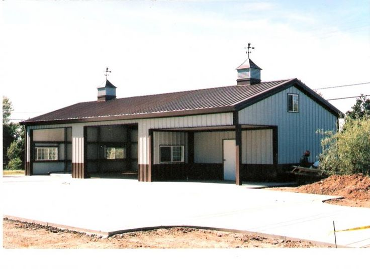 Steel building homes loomis building systems home for Garage and shop buildings