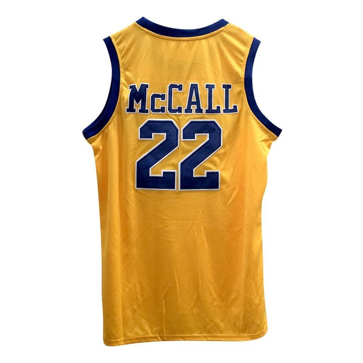 McCall #22 Crenshaw High School Gold Basketball Throwback Jersey