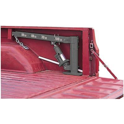 1/2 Ton 1000 LB Pickup Truck Bed Crane Foldable Swivel Lift Jack Warranty FEDEX $115 no wench?  I like that it's on the truck bed.