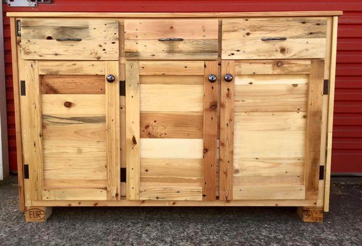 Wood Pallet Sideboard