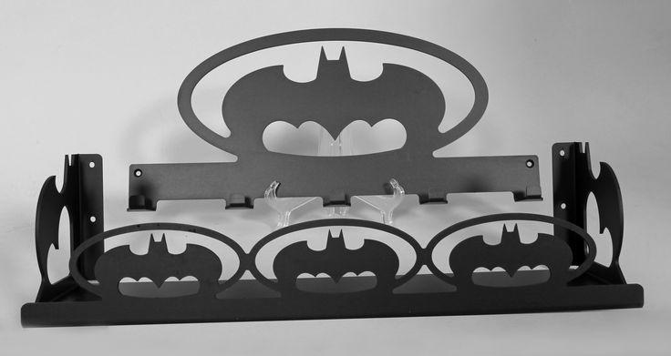 Bat themed coat rack and shelf