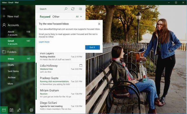 MS、「Windows 10」の「Gmail」ユーザーにも新しいメール/カレンダー機能を提供へ - CNET Japan