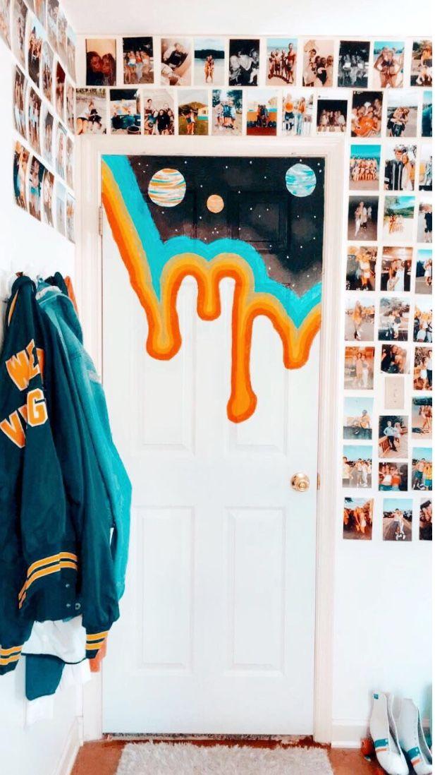 Diy Painted Bedroom Door Pintereѕt Ygnnlehi Aesthetic